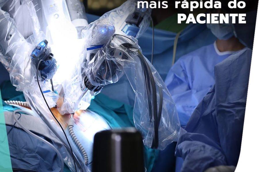 Cirurgia robótica permite recuperação mais rápida do paciente