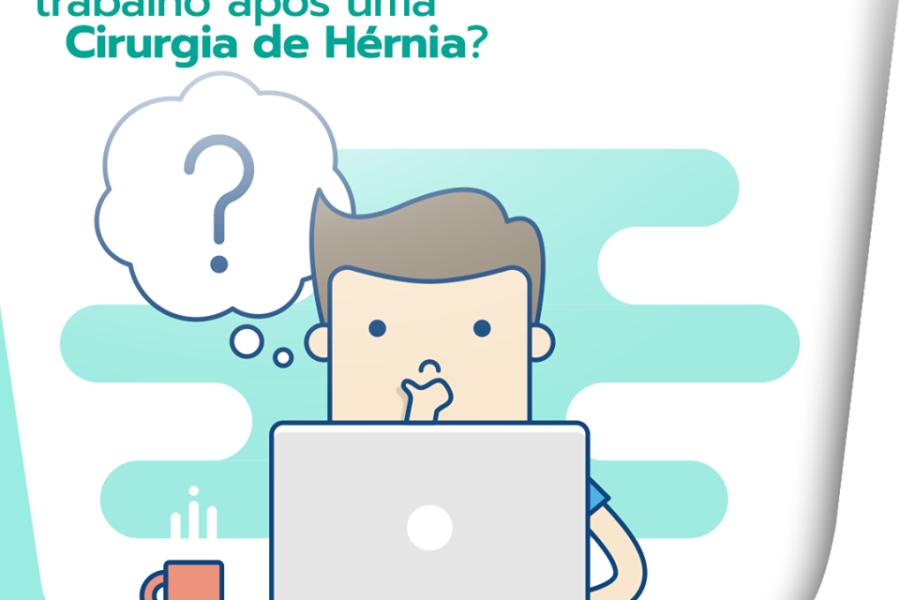 Em quanto tempo posso voltar ao trabalho após uma cirurgia de hérnia?