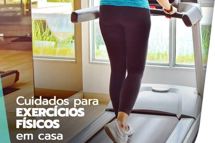 Cuidados para exercícios físicos em casa