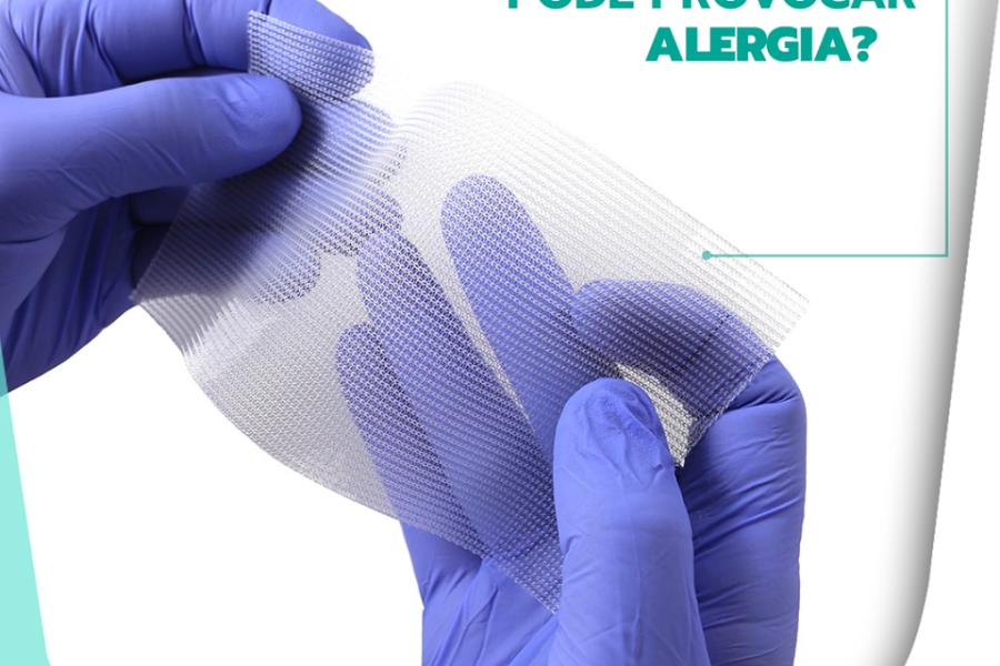 A tela cirúrgica pode provocar alergia?