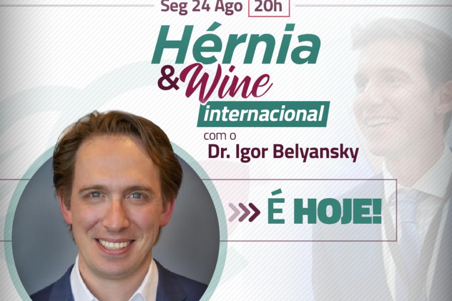 Dr Igor Belyansky na despedida do Hérnia & Wine