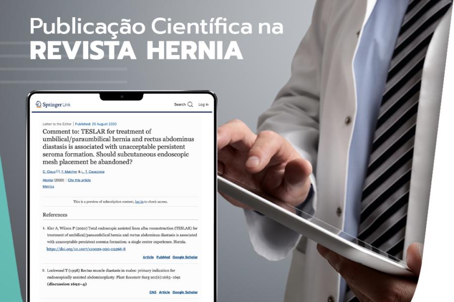 Publicação na revista científica HERNIA