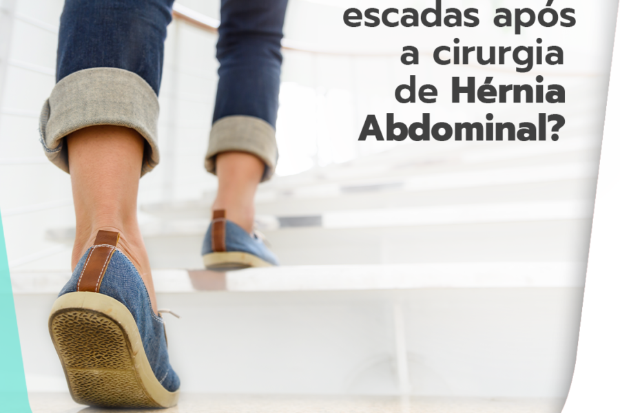 Posso subir escadas após a cirurgia de hérnia abdominal?