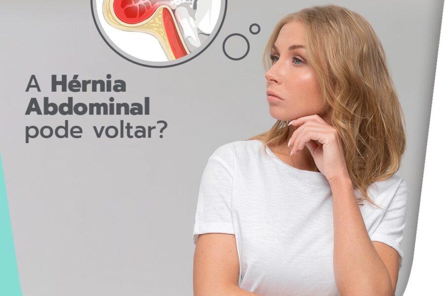 A hérnia abdominal pode voltar?